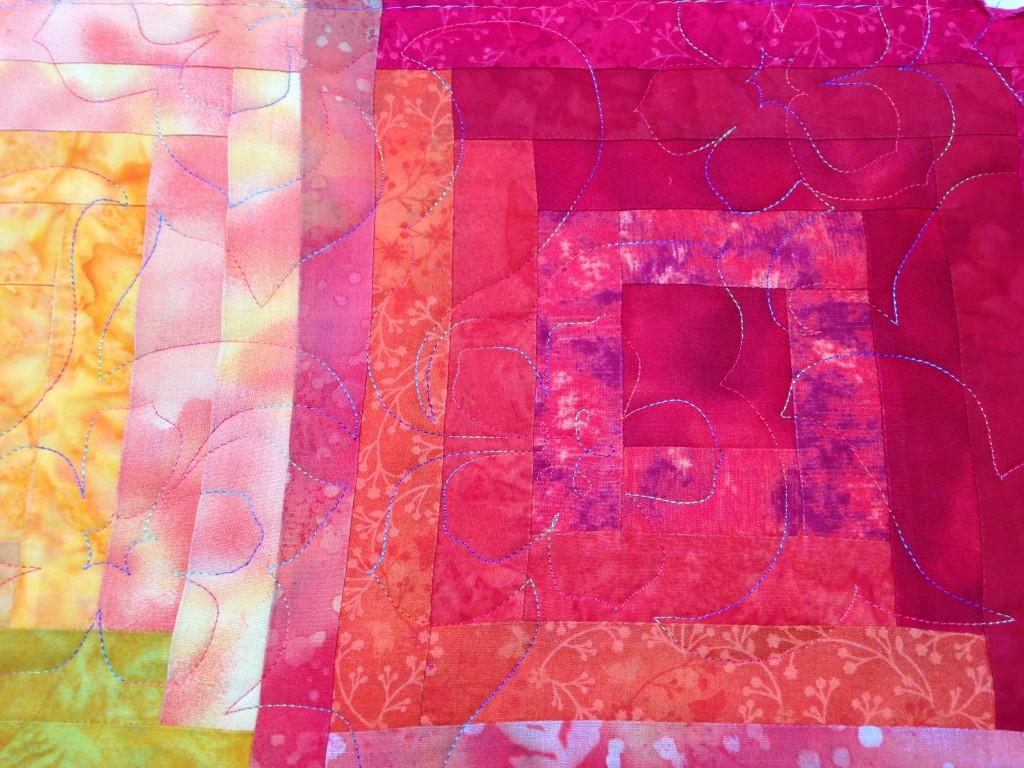 Beautiful multi-coloured thread